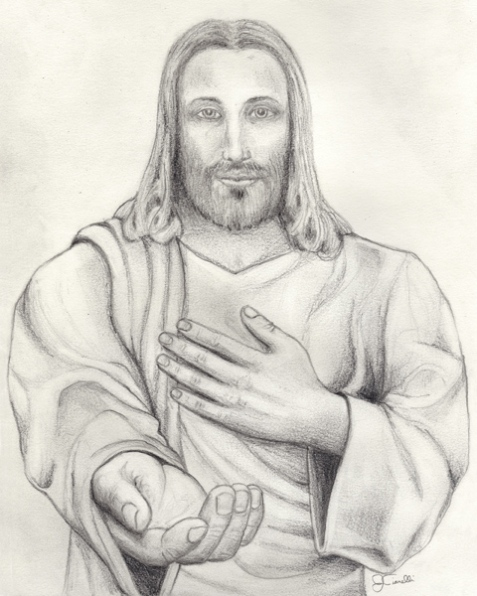 Pencil Drawing of Jesus