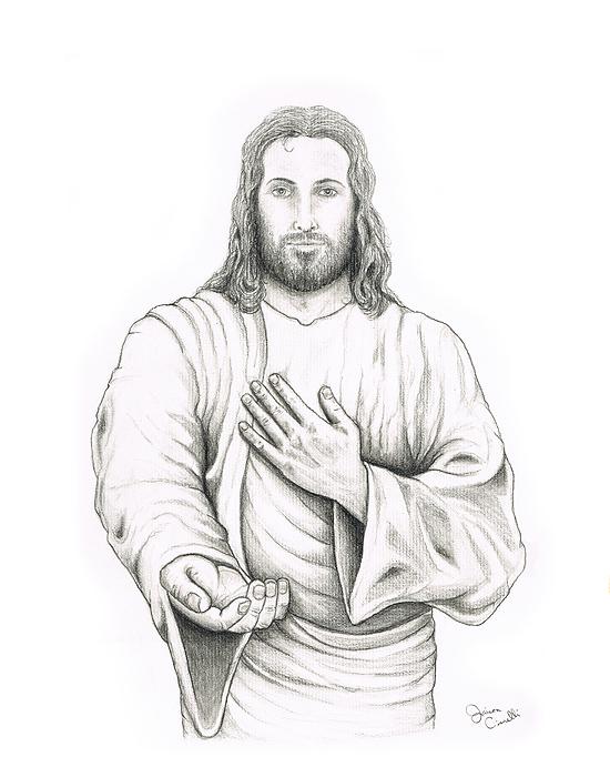 New Pencil Drawing Of Jesus Christ Spiritual Art Wellness